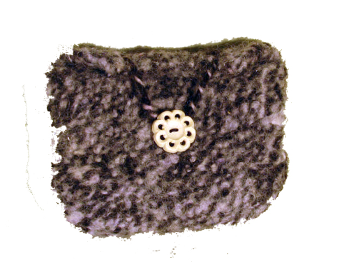 Felted Purse Purple and Black