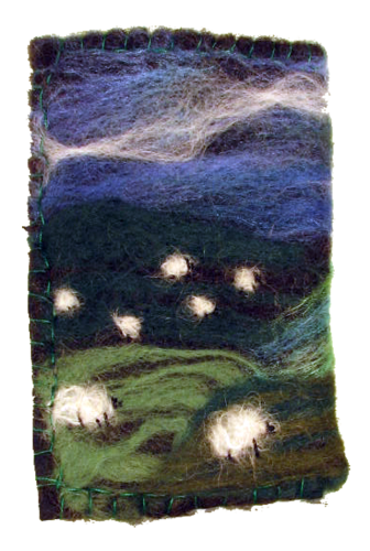 Sheep on the hills Medium Glasses case