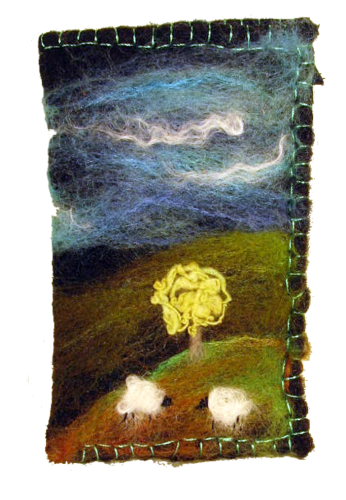 Sheep under the tree large glasses case