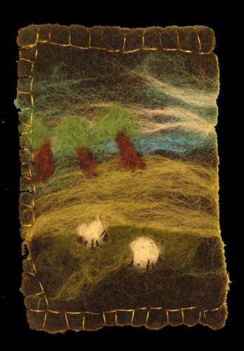 Sheep in the copse