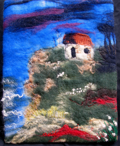 Cottage on the Cliff Wall Hanging
