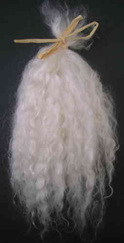 Premium Curly White Undyed Mohair for Reborns and Doll Making