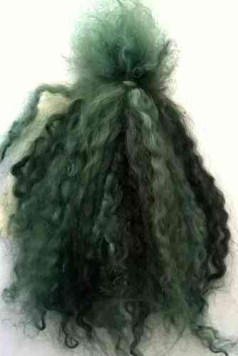 Premium Mohair Brights - Shades of Green for Reborns and Doll Making