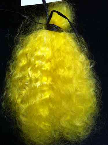 Premium Mohair Brights - Bright Yellow for Reborns and Doll Making