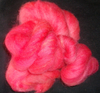Greyface dartmoor Carded Wool Red Berry