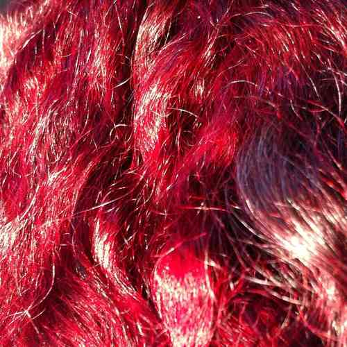 British Gotland Lamb Doll Hair Fibre Red Platinum