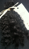 Premium Conditioned Wavy Locks of Black Mohair for Reborns and Doll Making
