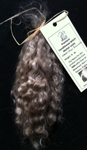 Premium Conditioned Wavy Locks of Ash Blonde Mohair for Reborns and Doll Making