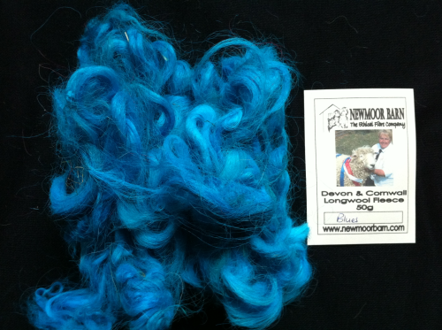 Devon & Cornwall Longwool Loose Fleece Blues 50g