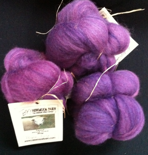 Texal Purple Twist Carded Wool 50g