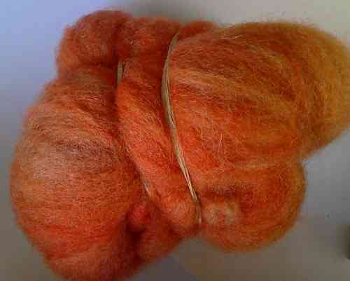 Texal Burnt Orange Carded Wool 50g