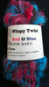 Wispy Twist Red & Blue Hand Spun Art Yarn