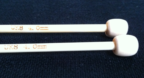 Natural Bamboo Knitting Needles size 4mm (UK8)