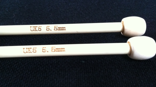 Natural Bamboo Knitting Needles size 5.5mm (UK5)
