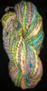 Handspun art yarn bubblegum