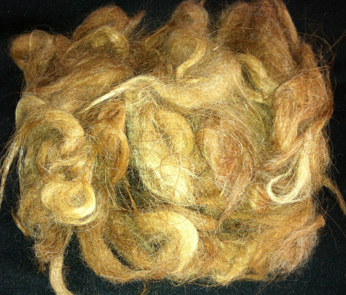 Llama Washed Fleece  Brown 25g