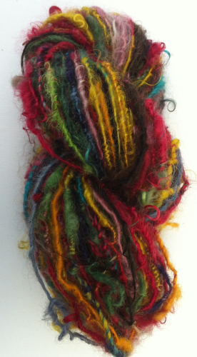 Brights Hand spun Mohair Single ply Yarn for Doll Hair