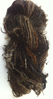 Dark Browns Hand spun Mohair Single ply Yarn for Doll Hair