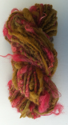 Hand spun Wensleydale and Ryeland Single ply  Yarn for Doll Hair