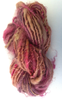 Hand spun Pink Wensleydale and Ryeland Single ply  Yarn for Doll Hair