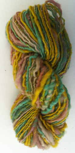 Hand spun Single Ply Bright Ryeland Wool for Dolls Hair
