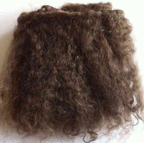 Mohair Weft Dark Brown 0.5 Metre