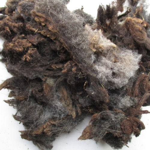 Black Ryeland Raw (Unwashed) Fleece 200g
