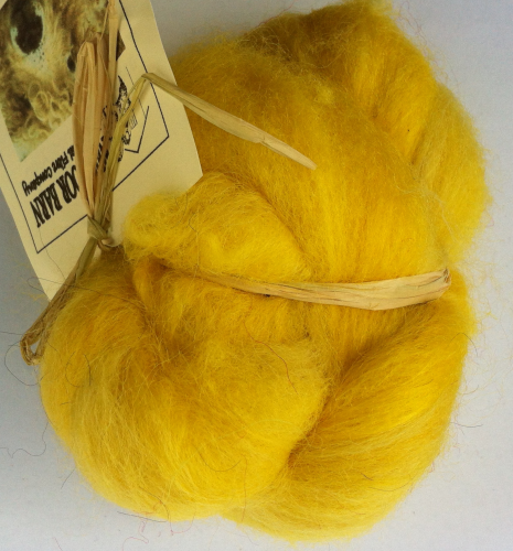 Greyface dartmoorCarded Wool Yellow