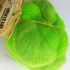 Greyface dartmoor Carded Wool  Bright Green