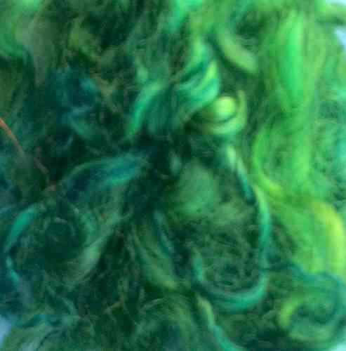 British Gotland Lamb Doll Hair Fibre Emerald Platinum