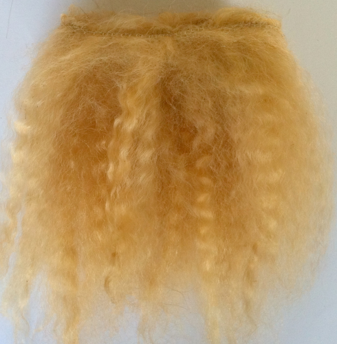 Mohair Weft Light Golden Brown 0.5 Metre
