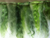 Mohair Weft Brights Shades of Green 0.5 Metre