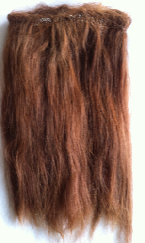 Suri Alpaca Wefts 0.5m Doll making Light Auburn