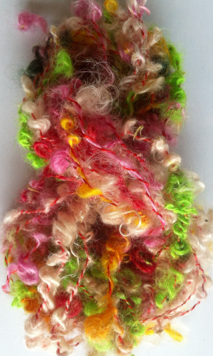 Looped Brights Mohair Hand Spun Yarn for Doll Hair