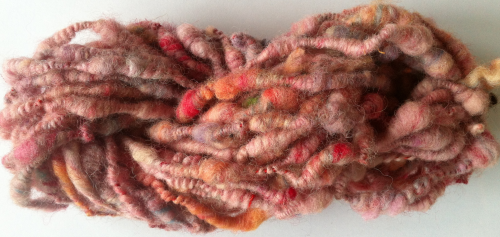 Coiled Thick n Thin Pinks Yarn for Doll Hair