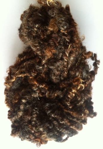 Coiled Wensleydale Browns Yarn for Doll Hair