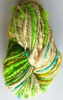 Spiralled Thick n Thin Greens 2 ply Yarn for Doll Hair