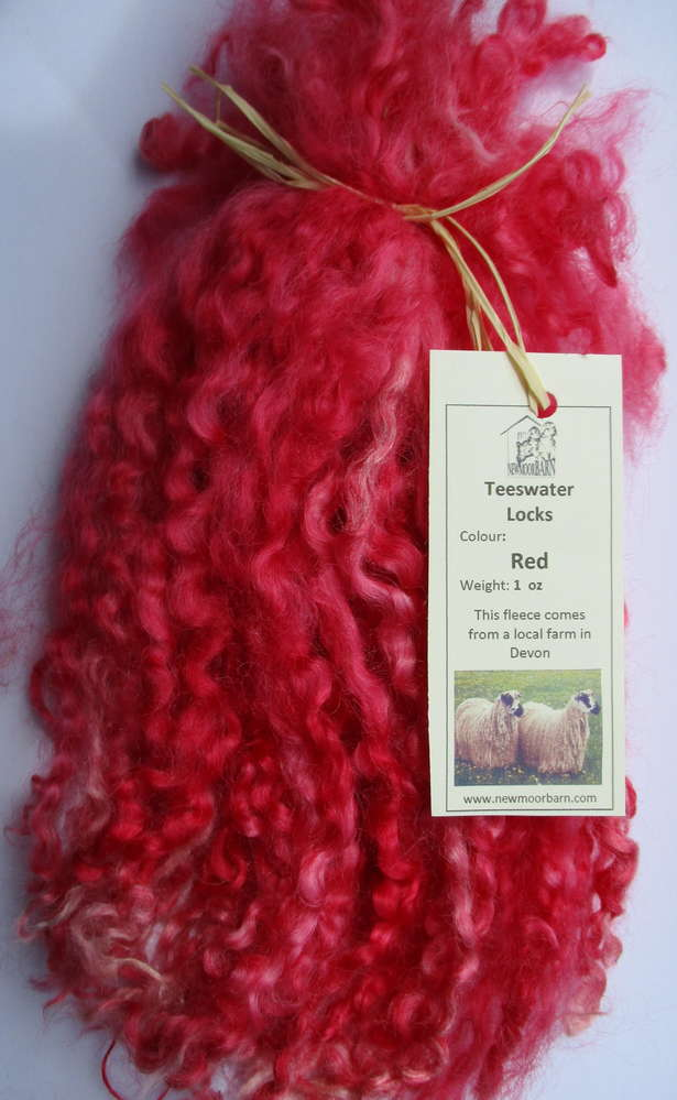 Teeswater Locks in Red for Doll making 1 oz