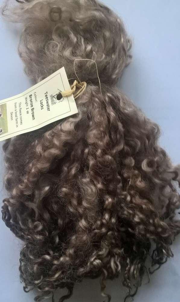 Teeswater Locks Bronze brown for Doll making 1 oz