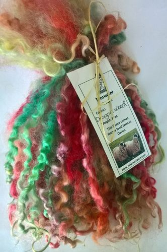 .Teeswater Locks in Dragons wood for Doll making 1 oz