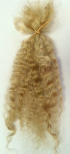 Premium Conditioned Wavy Locks of Mohair In Medium Blonde for Reborns and Doll Making