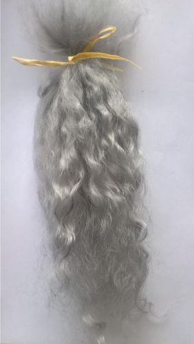 Premium Conditioned Wavy Locks of Mohair In Greys for Reborns and Doll Making