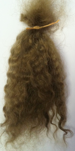 Premium Conditioned Wavy Locks of Mohair In Dark  Truffle for Reborns and Doll Making