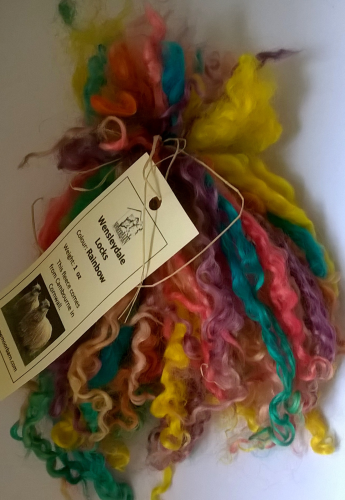 Wensleydale Locks for Doll making in Rainbow Mix 1 oz
