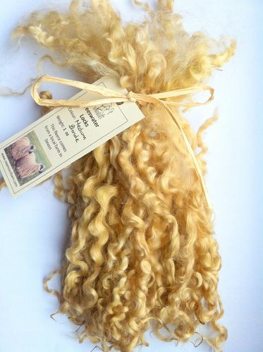 .Teeswater Locks in Medium Blonde for Doll making 1 oz