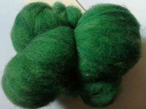 Texal Devon Green Carded Wool 50g