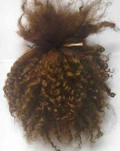 Masham Locks Copper Brown for Doll making 1 oz