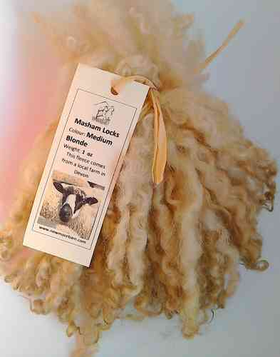 Masham Locks Medium Blonde for Doll making 1 oz