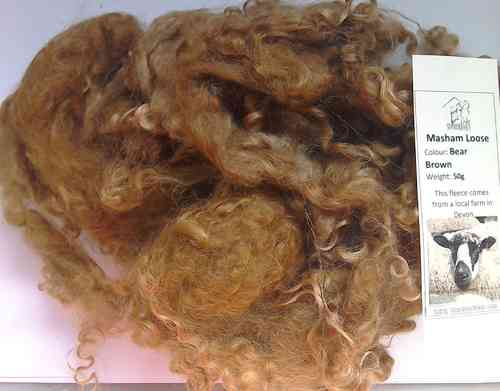 Masham Loose Wool 50g Bear Brown