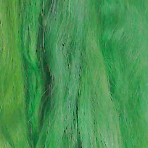 Suri Alpaca Super Soft Wefts 0.5m Doll making Green Shades